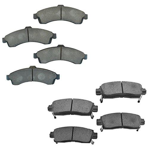 Premium Posi Ceramic Brake Pad Set Front & Rear Kit for Buick Rainier Chevy Trailblazer Trailblazer EXT GMC Envoy Envoy XL Envoy XUV Isuzu Ascender Oldsmobile (Chevy Ceramic Front Brake Pad)