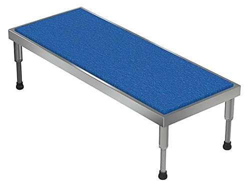 Adjustable Work Stand - Ergonomic Matting Deck - BAHT Series; Deck Size (W x L): 19'' x 48''; Service Range: 9'' to 14''; Number of Legs: 4; Capacity (LBS): 500 by Beacon World Class Products (Image #1)