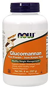 NOW Foods Glucomannan Pure Powder, 8 Ounce