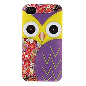 RC - Delicate Owl Floral Pattern Colorful Plastic Case for iPhone 4/4S (Assorted Colors) , Green