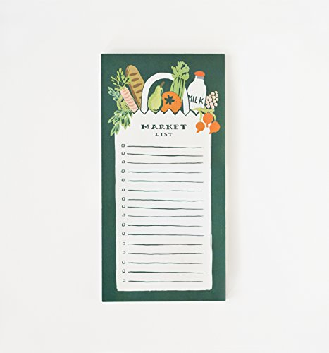 Rifle Paper Co. Market Grocery List Magnetic Note Pad
