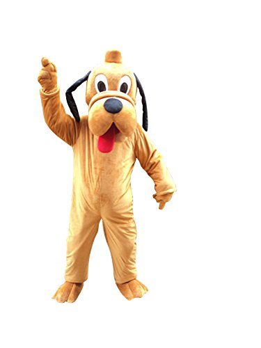 Pluto Dog Adult Mascot Costume Cosplay Fancy Dress Outfit