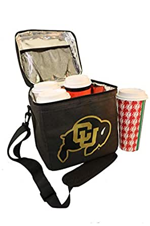BevBag. Colorado Buffs Football. Insulated Beverage Carrier with Removable Shoulder Strap (Black, CU Buffs). BevTray Sold Separately. Great for Uber Eats, DoorDash, GrubHub. Cups not Included