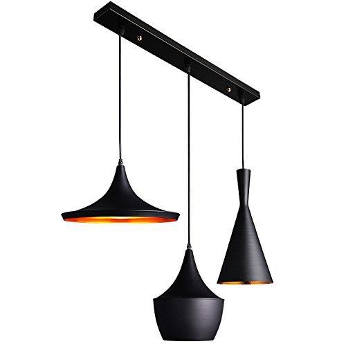 Multi Light Canopy (JiaYouJia Contemporary Three Pendant Light Fixture Multi Suspended Lighting, Rectangle)