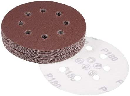 20Pcs 5-inch 8-hole hook and loop sanding disc 180 Grain-sandpaper sandpaper Random orbital sanding paper