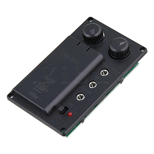 Electric Violin Silent EQ Pickup Piezo with Headphone and Plug Hole Cable Set by SYLIFE