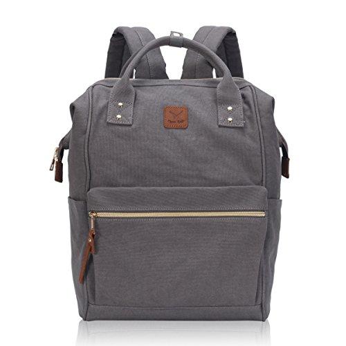hynes-eagle-wide-open-stylish-canvas-school-backpacks-travel-bag-for-men-women-grey