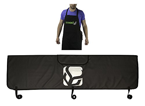 Demon Bicycle Tailgate Pad with Tool Pocket & Bike Mechanic Apron Combo Pack