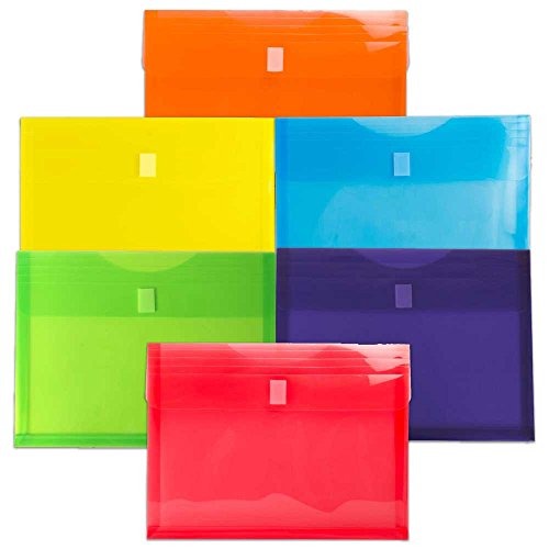 Poly Binder Pocket With Velcro Closure, 1-Inch Gusset