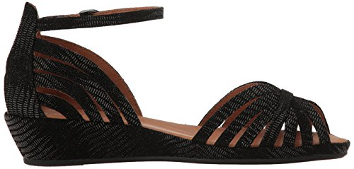 Gentle Cole Wedge Leah Black Souls Embossed Women Kenneth Sandal Leather by qgUwprRg