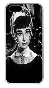 iPhone 5S Case, iPhone 5S Cases -Audrey Hepburn 105 Polycarbonate Hard Case Back Cover for iPhone 5/5S White
