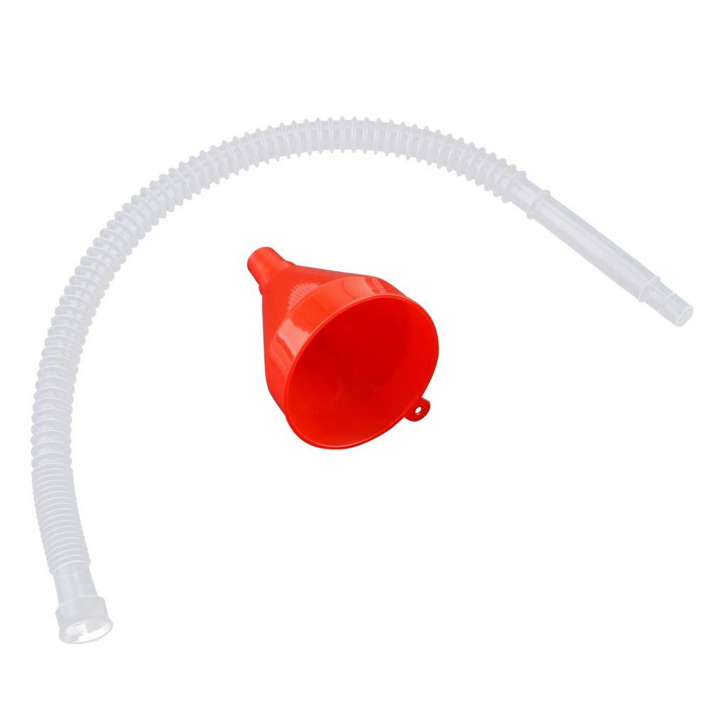 Accessoires Automobiles carburants Essence Entonnoir r/éservoir deau Entonnoir avec Tube Flexible Plastique Poids l/éger Flexible