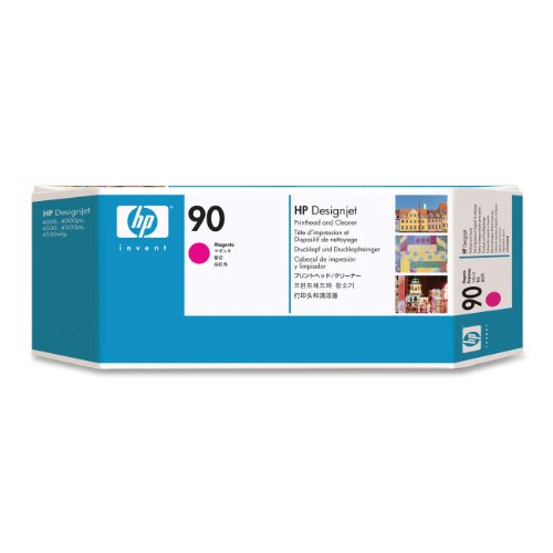 HP 90 Magenta and Cleaner DesignJet Original Ink Cartridge (C5056A)