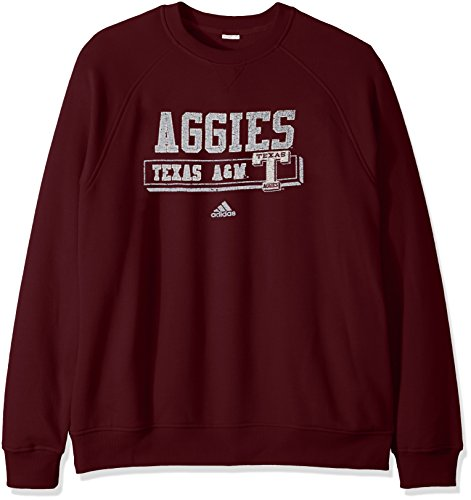 NCAA Texas A&M Aggies Men's PHYS Ed Class Vault Fleece Crew Sweat Shirt, X-Large, Maroon
