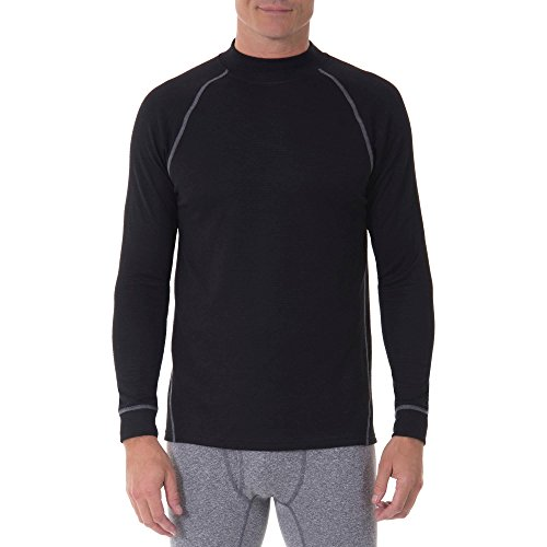 Russell Performance Tech Grid Baselayer Thermal Crew Top - Black (Medium (Chest 38-40))
