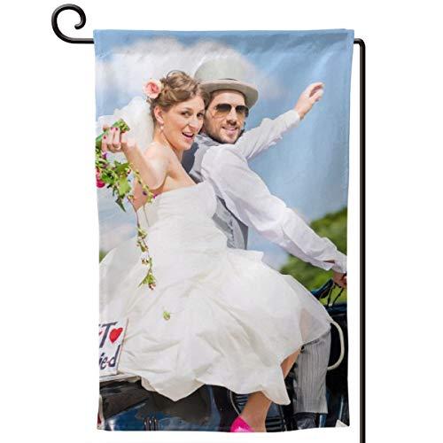 Etype Custom Family Garden Flag 12.5x18 Inch Wedding Photo Personalized Photo Yard Flag 2 Sides Print (Flag Garden Photo)