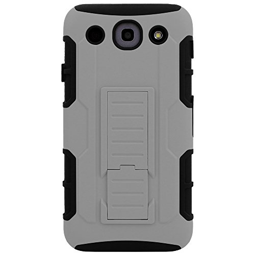 LG G PRO Case, CellJoy [Future Armor] {Wolf Gray} LG Optimus G Pro E980 E989 2013 Release Model Case Hybrid Ultra Fit Dual Protection [Heavy Duty] Kickstand Holster **Shock-proof** [Belt Clip Holster Combo] - Robot Case Cover