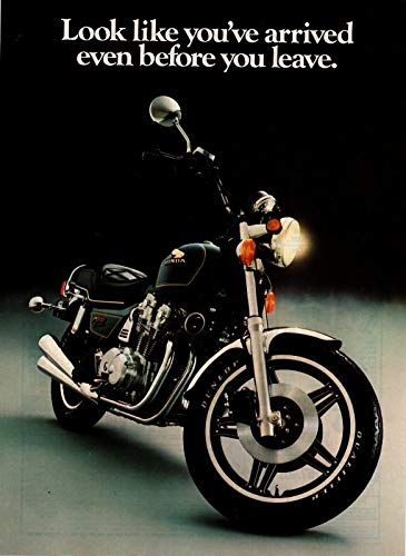 "Magazine Print Ad: 1981 Honda CB900 Custom Motorcycle, 902 cc,""Look Like You've Arrived Even Before You Leave.Follow the Leader"""
