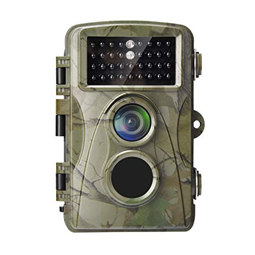 AlfaView Trail Camera 12MP 1080P Wildlife Scouting Hunting Camera Motion Activated Night Vision Game Cam with 2.4