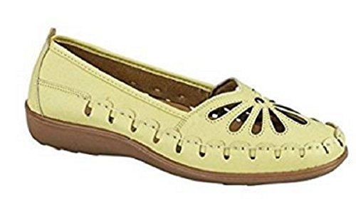 Lora Dora Womens Casual Comfort Loafers Faux Leather Driving Work Pumps Cut Out Sandals Size UK 3-8 Lime