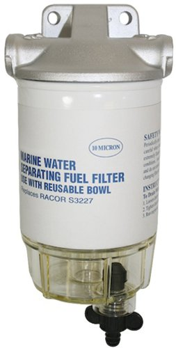 SeaSense Fuel Filter Kit with Clear Bowl And Aluminum ()