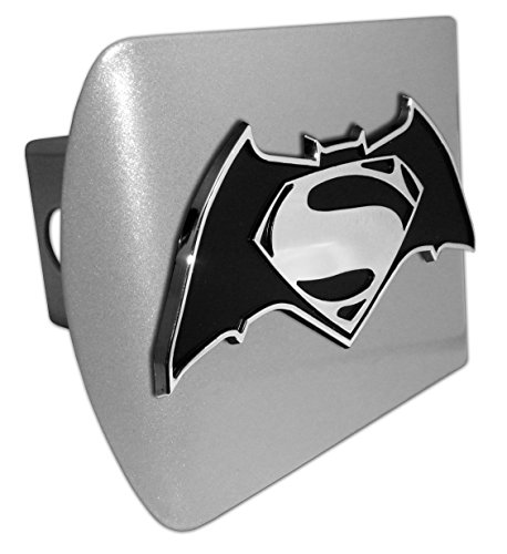 Superman Batman All Metal Brushed Hitch Cover