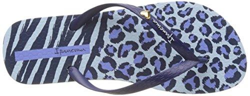 Ipanema Animal Print Ii Fem - Sandalias de dedo Mujer Bleu (Blue/ Blue)