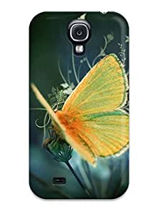 Case Cover Nice Yellow Butterfly / Fashionable Case For Galaxy S4