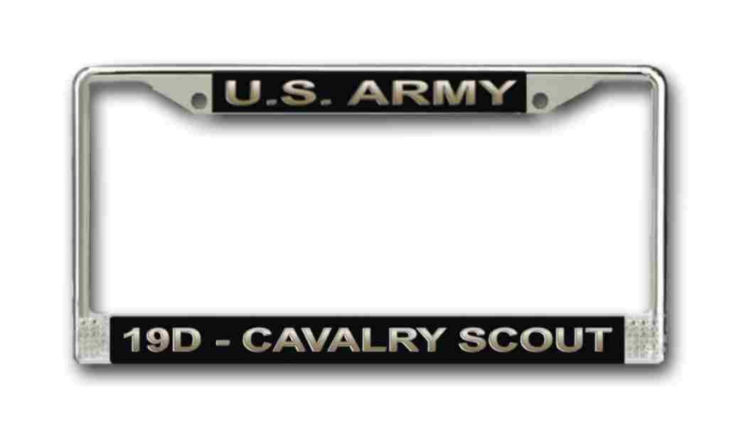 Amazon.com: US Army MOS 19D Cavalry Scout License Plate Frame ...