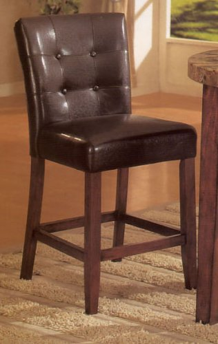 Genial Set Of 2 24u0026quot;H Parson Counter Height Stools Dark Brown Finish