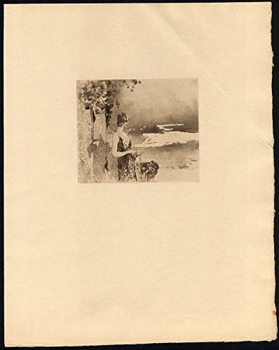Original Print-ROARING Twenties-Woman-Female-Portrait-Dress-1920