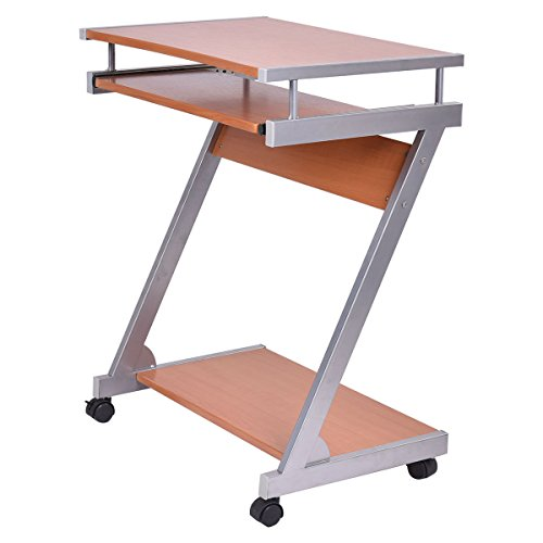 Portable Rolling Computer Desk Laptop Table Work Station