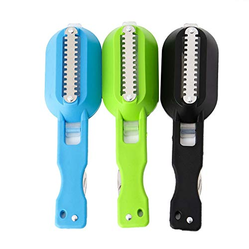 Price comparison product image NJPOWER Multifunction Fast Cleaning Fish Skin Steel Plastic Fish Scale Remover Scaler Scraper Cleaner Kitchenware Tool Peeler R Dropship