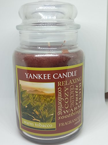 Yankee Candle Warm Tobacco Jar Candle - 22 Oz Large Size (Santas Pipe)