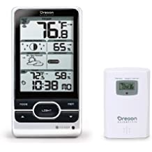 Oregon Scientific Advanced Wireless Weather Station with Forecast Ice Alert Humidity Moon Phase Atomic Clock Multi-Sensor Location (Silver)