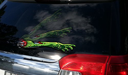 WiperTags Zombie Hunter Arm Vehicle Accessory Attaches to Rear Wiper Blades ()