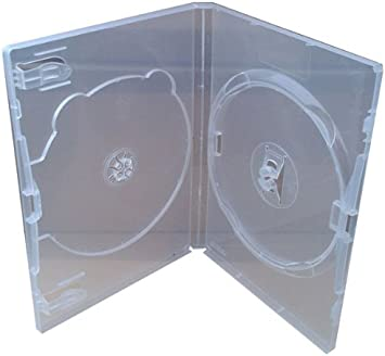 Amaray D72007 - Caja para 2 DVD de 14 mm (transparente, 50 unidades): Amazon.es: Electrónica