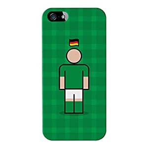 Alemania 2Full Wrap Funda de alta calidad 3d impreso para Apple® iPhone 5/5S de Blunt Football International + libre cristalina Protector de pantalla