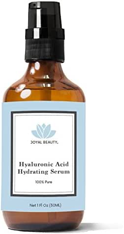 Hyaluronic Acid Serum for Face Skin Eyes Lips by Joyal Beauty. 100% Pure Best Anti-aging Hydrating Original Hyaluronan for Topical Use. Highest 4% Solution. Ranked Number 1 HA. Anti Wrinkle Smoother