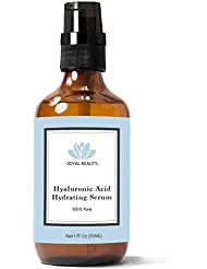 Hyaluronic Acid Serum for Face Skin Eyes Lips by Joyal Beauty. Best Anti-aging Hydrating Original 100% Pure Hyaluronan for Topical Use. Highest 4% Solution. Ranked Number 1 HA. Anti Wrinkle Smoother