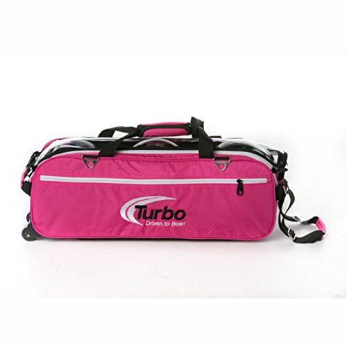 Turbo Express 3 Ball Travel Tote- Pink by Turbo Bowling Grips