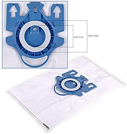 Complete C2 KEEPOW HyClean GN 3D Efficiency Vacuum Cleaner Bag for Miele Classic C1 10 Paper Bags + 6 Accessimo Microfilter C3 S2000 Replaces Part # 9917730 S5000 and S8000 Series