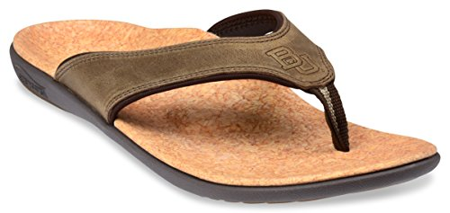 Sandy Brown Leather (Spenco Men's Yumi Leather Sandal (9, Saddle Brown Leather))