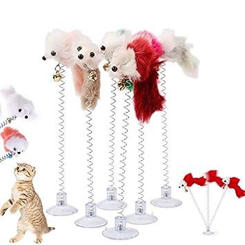 Amazon.com: HBK Pop - Juguetes de gato divertidos con plumas ...
