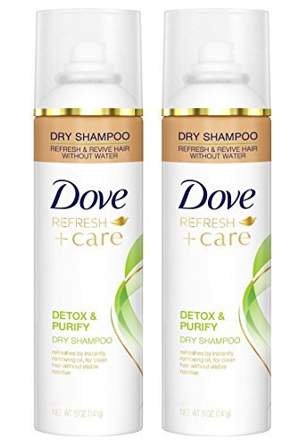 Dove Refresh + Care Dry Shampoo - Detox & Purify - Net Wt. 5 OZ (141 g) Per Can - Pack of 2 Cans