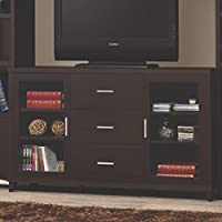 Coaster Home Furnishings 700881 Contemporary TV Console, Cappuccino