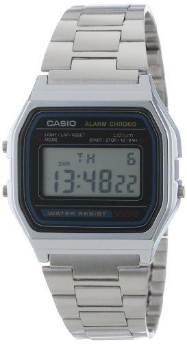 Casio Men's  A158WA-1DF Stainless Steel Digital Watch from Casio