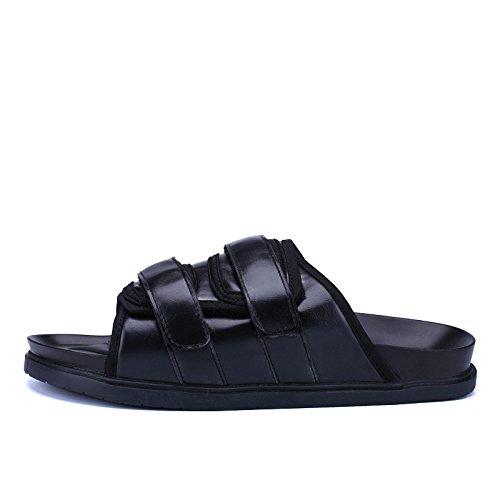 Uomini sandali moda popolare sandali Spiaggia sandali tendenza Uomini sandali .nero.US=10,UK=9.5,EU=44,CN=46