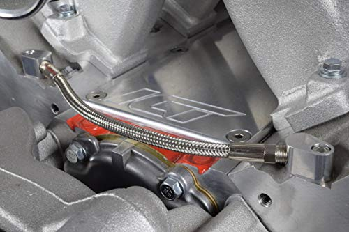 PTNHZ RACING LS Throttle Cylinder Body Bypass Hose Coolant Billet Stacked Coolant Steam Port Crossover Hose Tube Kit for All GM Series LS1 LSX LM7 LR4 LQ4 LS6 L59 LQ9 LM4 L33 Engine 551675