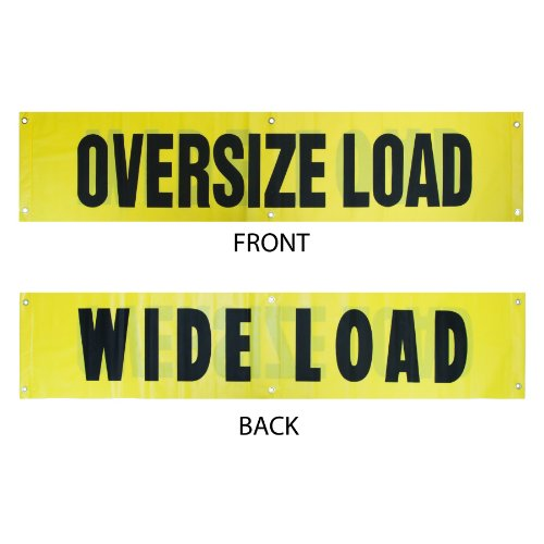 Vulcan Reversible Wide Load/Oversize Load Banner With Heavy Duty Brass Grommets (18